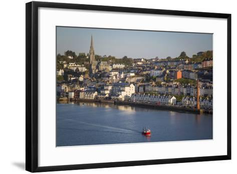 Fishing Boat Headed Out to Sea at Dawn, Cobh, County Cork, Ireland-Brian Jannsen-Framed Art Print