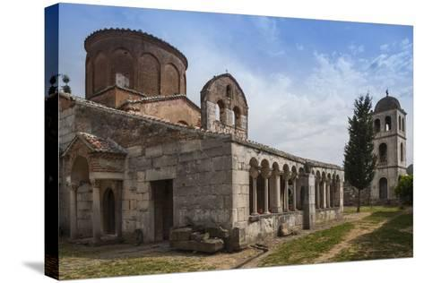 Albania, Fier, Ruins of Apollonia, Byzantine Monastery and Museum-Walter Bibikow-Stretched Canvas Print