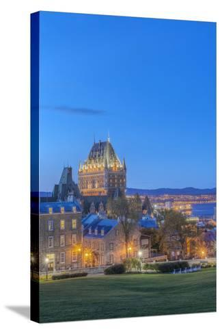Canada, Quebec, Quebec City, Old Town at Twilight-Rob Tilley-Stretched Canvas Print