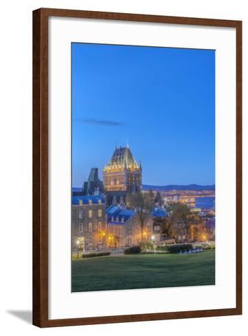 Canada, Quebec, Quebec City, Old Town at Twilight-Rob Tilley-Framed Art Print