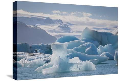 Iceland. East Region. Jokulsarlon. Glacial Lake. Icebergs in the Lake-Inger Hogstrom-Stretched Canvas Print