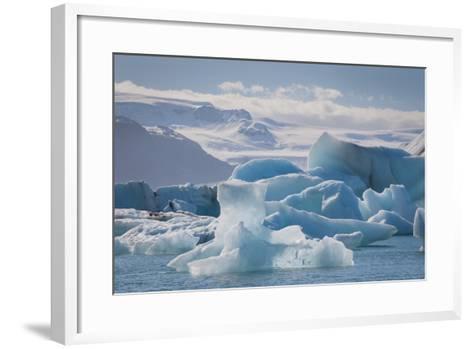 Iceland. East Region. Jokulsarlon. Glacial Lake. Icebergs in the Lake-Inger Hogstrom-Framed Art Print