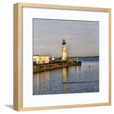 The Buffalo Main Lighthouse on the Buffalo River New York State-Joe Restuccia-Framed Art Print
