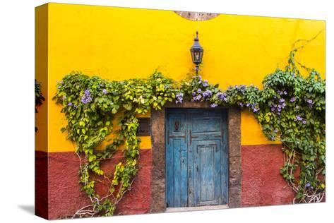 Decorative Doo on the Streets of San Miguel De Allende, Mexico-Chuck Haney-Stretched Canvas Print