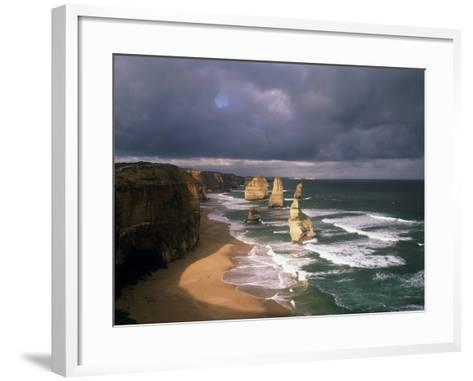 Australia, Port Campbell NP. Twelve Apostles Rock Formation-Howie Garber-Framed Art Print