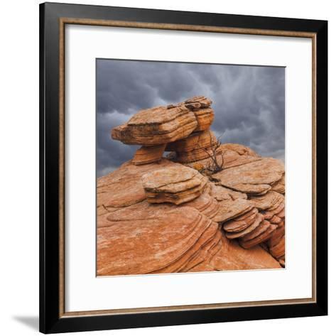 USA, Utah, Dixie National Forest. Sandstone Formation in Yant Flats-Jaynes Gallery-Framed Art Print