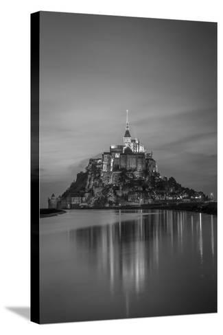 Twilight over Le Mont Saint Michel, Normandy, France-Brian Jannsen-Stretched Canvas Print