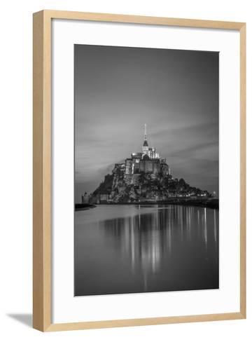 Twilight over Le Mont Saint Michel, Normandy, France-Brian Jannsen-Framed Art Print