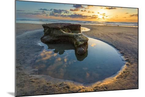 Rock Formations at Swamis Beach in Encinitas, Ca-Andrew Shoemaker-Mounted Photographic Print