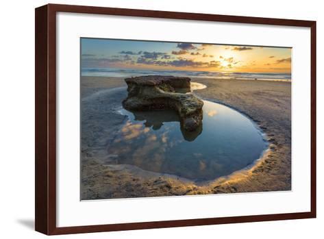 Rock Formations at Swamis Beach in Encinitas, Ca-Andrew Shoemaker-Framed Art Print