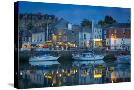 Twilight over Harbor Village of Padstow, Cornwall, England-Brian Jannsen-Stretched Canvas Print