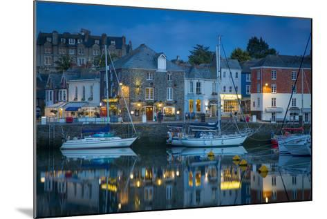 Twilight over Harbor Village of Padstow, Cornwall, England-Brian Jannsen-Mounted Photographic Print