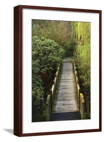Bridge, Crystal Springs Rhododendron Garden, Portland, Oregon, Usa-Michel Hersen-Framed Art Print
