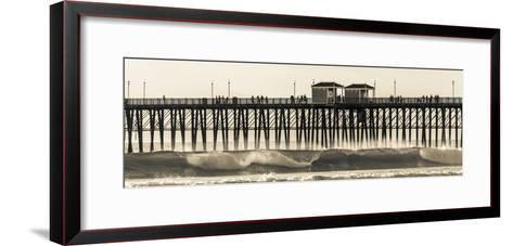 Waves at the Oceanside Pier in Oceanside, Ca-Andrew Shoemaker-Framed Art Print