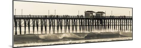 Waves at the Oceanside Pier in Oceanside, Ca-Andrew Shoemaker-Mounted Photographic Print
