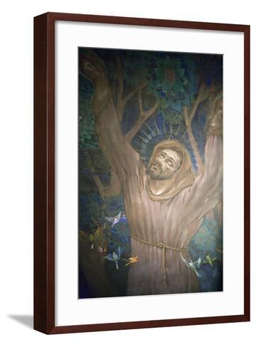Mural in St. Nicholas Croatian Catholic Church, Millvale, Pa, Usa-Dave Bartruff-Framed Art Print
