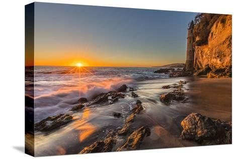 Sunset at Victoria Beach in Laguna Beach, Ca-Andrew Shoemaker-Stretched Canvas Print