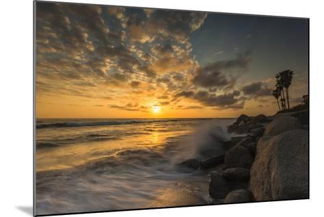 Sunset Along Tamarack Beach in Carlsbad, Ca-Andrew Shoemaker-Mounted Photographic Print