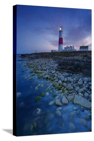 Portland Bill Lighthouse Near Portland, Dorset, England-Brian Jannsen-Stretched Canvas Print