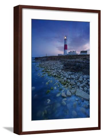 Portland Bill Lighthouse Near Portland, Dorset, England-Brian Jannsen-Framed Art Print