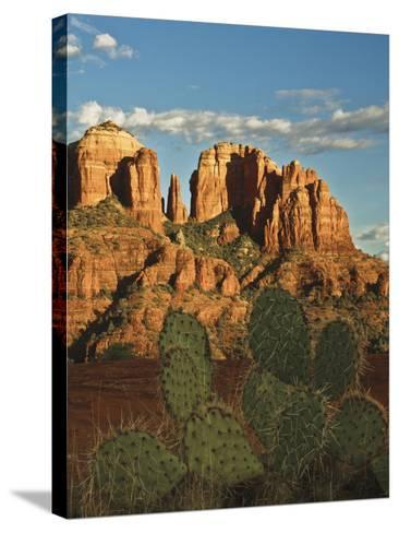 Cathedral Rock at Sunset from Secret Canyon, Sedona, Arizona, Usa-Michel Hersen-Stretched Canvas Print