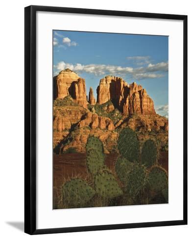 Cathedral Rock at Sunset from Secret Canyon, Sedona, Arizona, Usa-Michel Hersen-Framed Art Print