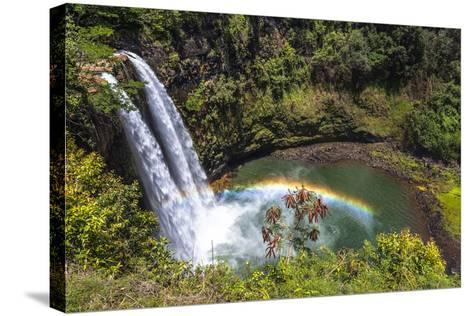 Wailua Falls and Scenery on the Hawaiian Island of Kauai-Andrew Shoemaker-Stretched Canvas Print