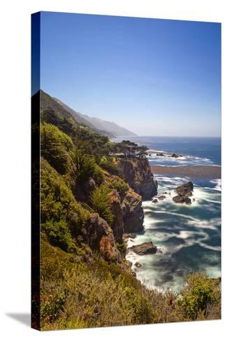 The Big Sur Coastline of California-Andrew Shoemaker-Stretched Canvas Print