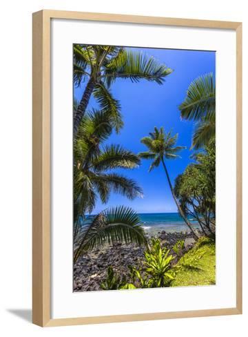 Tropical Coastline of Princeville, Hi-Andrew Shoemaker-Framed Art Print