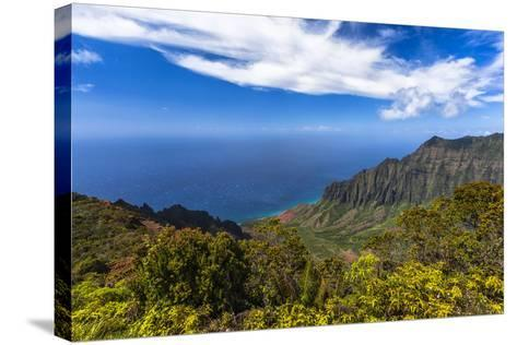 Kalalau Valley Overlook in Kauai-Andrew Shoemaker-Stretched Canvas Print