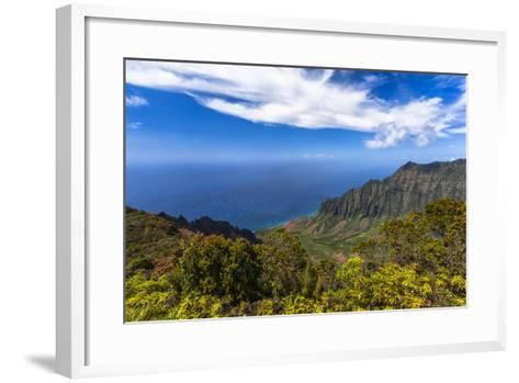 Kalalau Valley Overlook in Kauai-Andrew Shoemaker-Framed Art Print