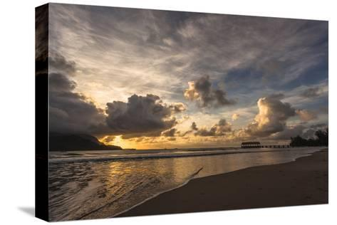 Sunset in Hanalei Bay, Kauai-Andrew Shoemaker-Stretched Canvas Print
