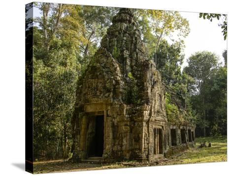 Cambodia, Angkor Wat. Small Temple-Matt Freedman-Stretched Canvas Print