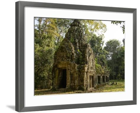 Cambodia, Angkor Wat. Small Temple-Matt Freedman-Framed Art Print