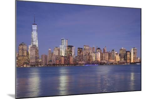 USA, New York, New York City, Lower Manhattan and Freedom Tower, Dusk-Walter Bibikow-Mounted Photographic Print