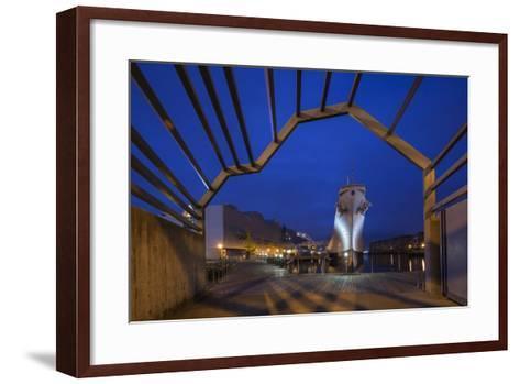 USA, Virginia, Norfolk, Ww2-Era Battleship Uss Wisconsin, Dusk-Walter Bibikow-Framed Art Print