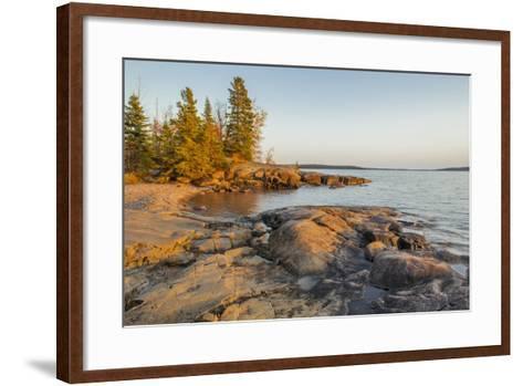 Canada, Ontario, Terrace Bay, Rainbow Falls Provincial Park-Frank Zurey-Framed Art Print