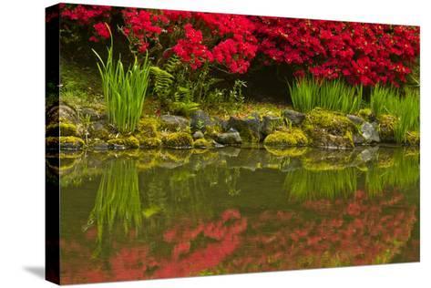 Portland Japanese Garden in Spring, Portland, Oregon, Usa-Michel Hersen-Stretched Canvas Print