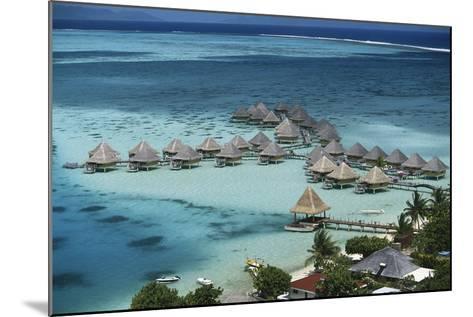 French Polynesia, Bora Bora, Taahina Bay and the Bunglows-Walter Bibikow-Mounted Photographic Print
