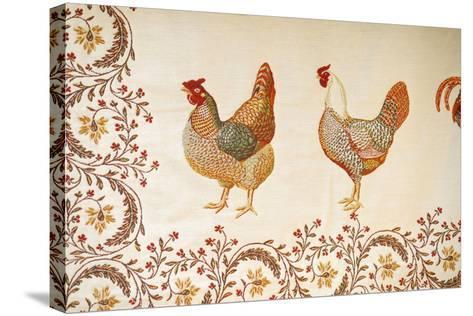 France, Aix-En-Provence. Textiles, Cours Mirabeau Market-Kevin Oke-Stretched Canvas Print