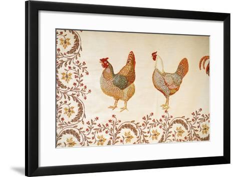 France, Aix-En-Provence. Textiles, Cours Mirabeau Market-Kevin Oke-Framed Art Print
