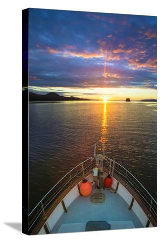 USA, Alaska. Sunset Seen from Boat at Flynn Cove-Jaynes Gallery-Stretched Canvas Print