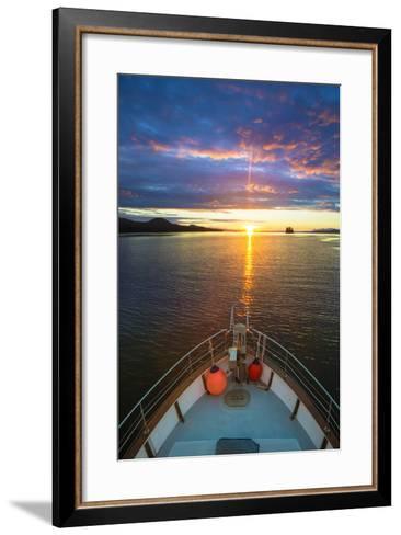 USA, Alaska. Sunset Seen from Boat at Flynn Cove-Jaynes Gallery-Framed Art Print