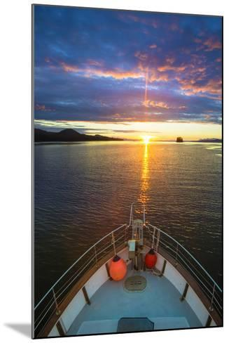USA, Alaska. Sunset Seen from Boat at Flynn Cove-Jaynes Gallery-Mounted Photographic Print