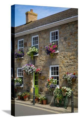 Entrance to Smugglers Bed and Breakfast in Marazion, Cornwall, England-Brian Jannsen-Stretched Canvas Print