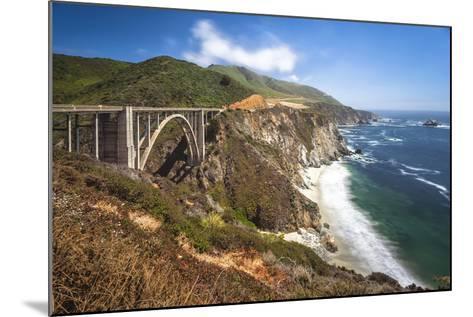 The Bixby Bridge Along Highway 1 on California's Coastline-Andrew Shoemaker-Mounted Photographic Print