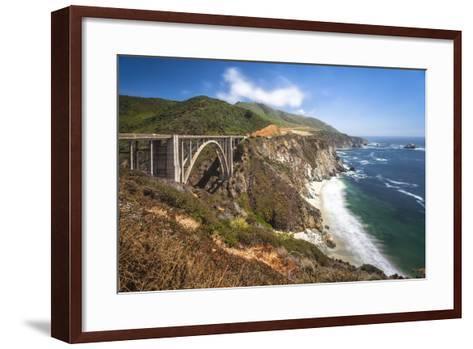 The Bixby Bridge Along Highway 1 on California's Coastline-Andrew Shoemaker-Framed Art Print