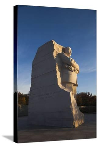 USA, Washington Dc, Martin Luther King Memorial, Sunrise-Walter Bibikow-Stretched Canvas Print