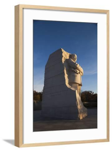 USA, Washington Dc, Martin Luther King Memorial, Sunrise-Walter Bibikow-Framed Art Print
