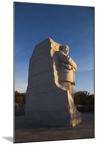 USA, Washington Dc, Martin Luther King Memorial, Sunrise-Walter Bibikow-Mounted Photographic Print